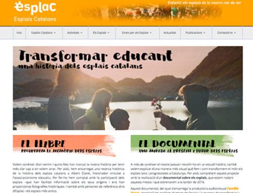 Nova pàgina per seguir el projecte del llibre històric i el documental dels esplais!