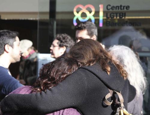 Esplais Catalans mostrem el nostre rebuig a l'atac feixista contra el nou centre LGTBI de Barcelona