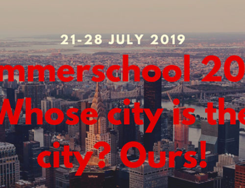 """Summer School 2019: """"Whose city is the city"""""""