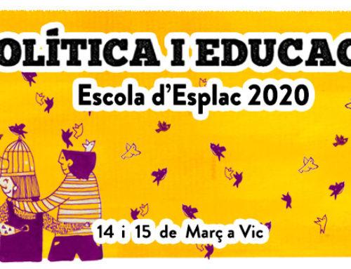 Inscripcions obertes per l'Escola d'Esplac 2020: I tu, en quins valors eduques?
