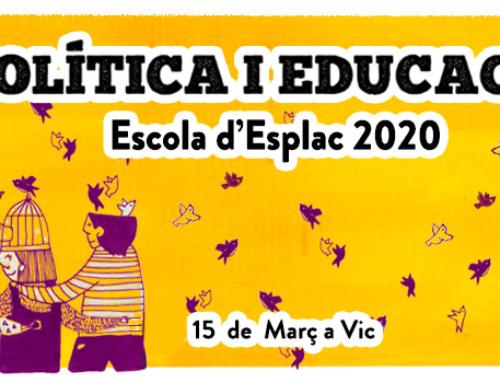 Obrim inscripcions a l'Escola d'Esplac 2020 per a persones externes a Esplac