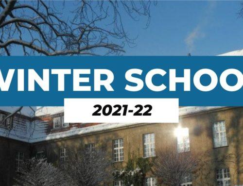 Ja et pots inscriure a la Winter School 2021-2022